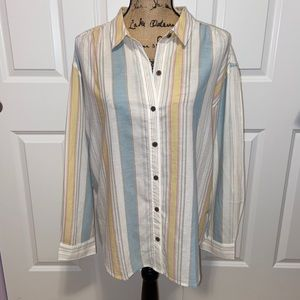 Patagonia Birch Striped Shirt Sz. M